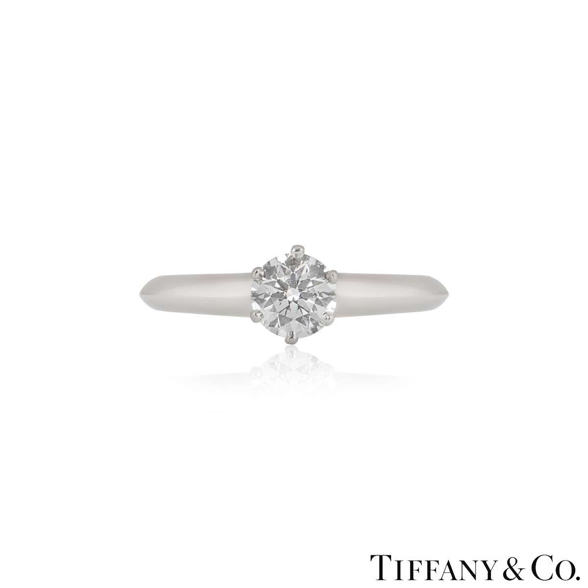 Tiffany & Co. Round Brilliant Cut Diamond Ring 0.58ct F/VS1